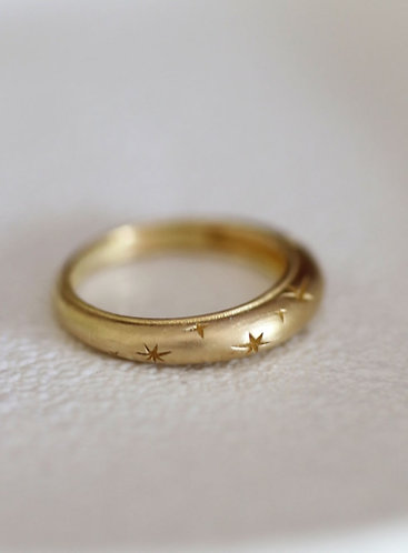 Celestial Ring/ 14k solid  gold