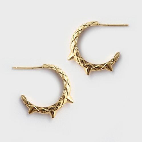 Dragon Tail  Hoop Earrings/ 14k gold
