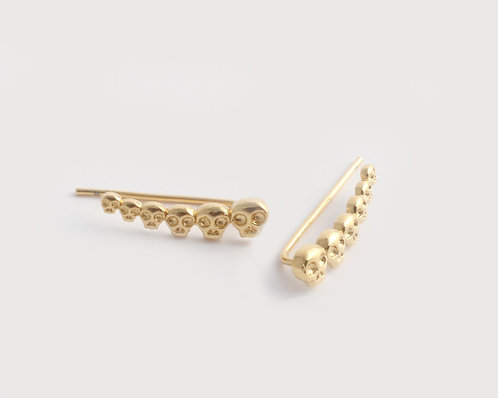 Skull Ear Cuffs/gold