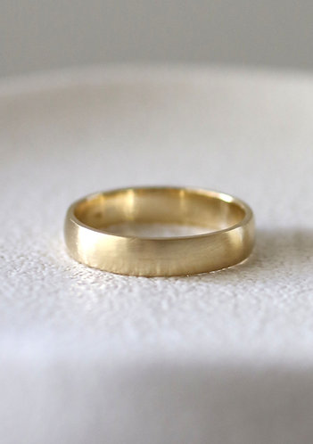 The Classic Wedding Band For Him/ 14k gold
