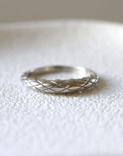 Dragon Skin Ring/ 14k  white gold