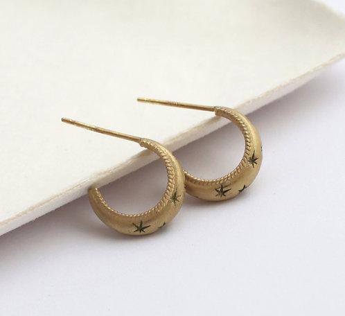 Celestial Earrings/ 14k gold