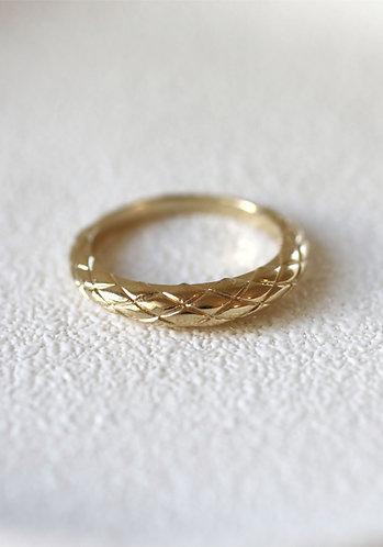 Dragon Skin Ring/ 14k  gold