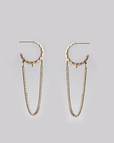 Dragon Tail  Dangle Earrings/ silver