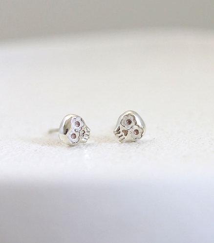 Mini Muertos Earrings/ 14K  gold