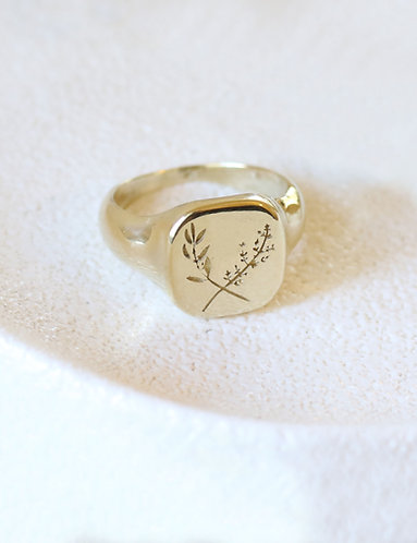 Her Herbal Ring/ 14k solid gold