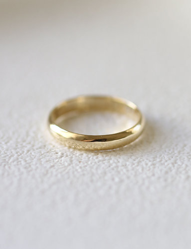 The Classic Wedding Band/ 14k gold