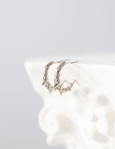 MINI Dragon Tail Earrings/ 14k  gold