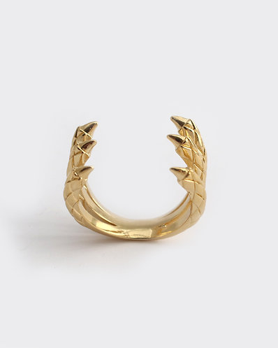 Triple Claw Ring/ gold