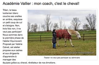 Mon coach, c'est le cheval!