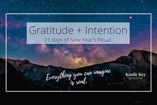 Image Gratitude + Intention new year bea