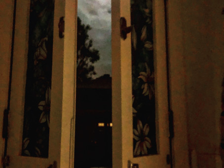 Open my window to the moon...