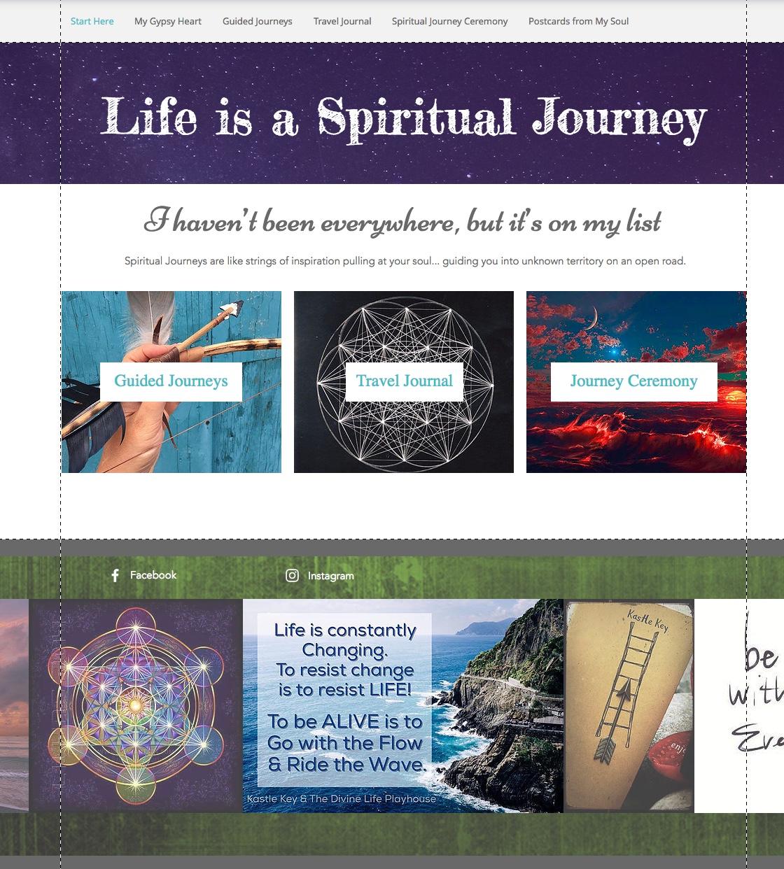 spiritual journey website thumbnail