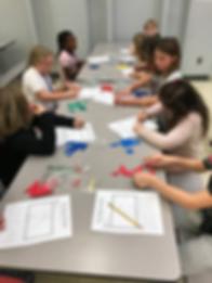 Students at Monongah Elementary use tangrams to enhance geometric thinking