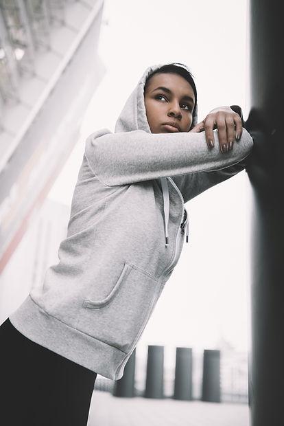 Girl in Sports Apparel