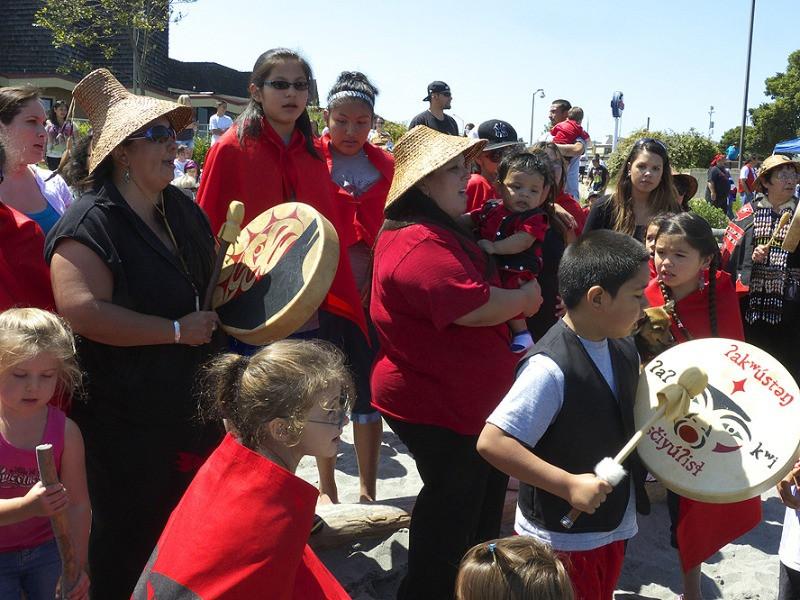 Elwha River dam removal ceremony