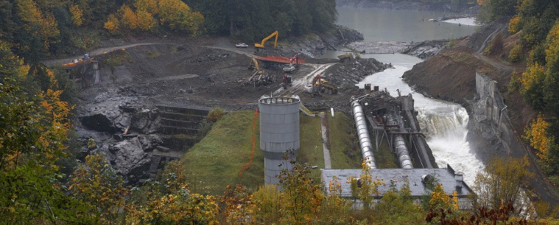 Demolition of one of the Elwha River dams