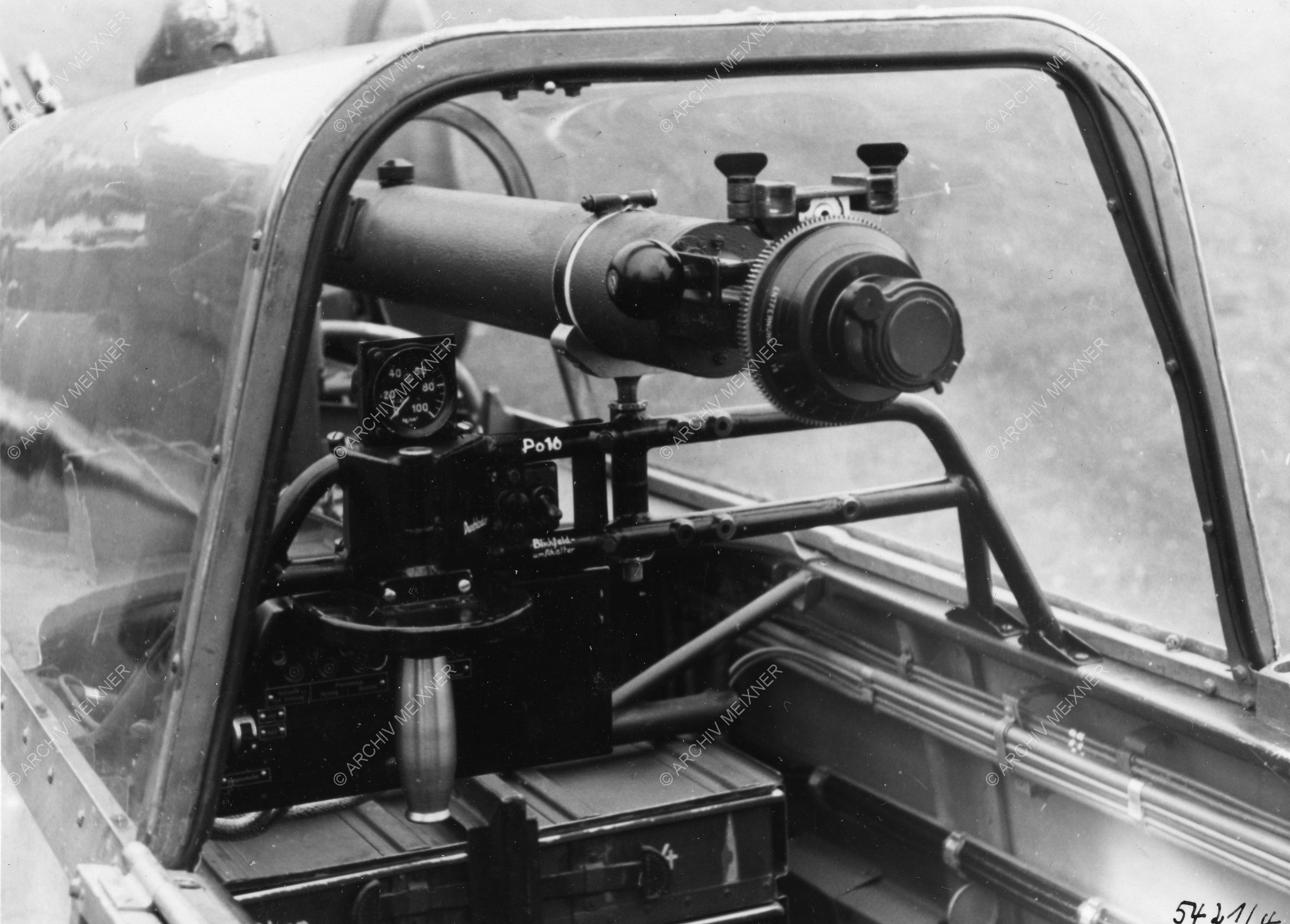 Erprobung an einer Me 110