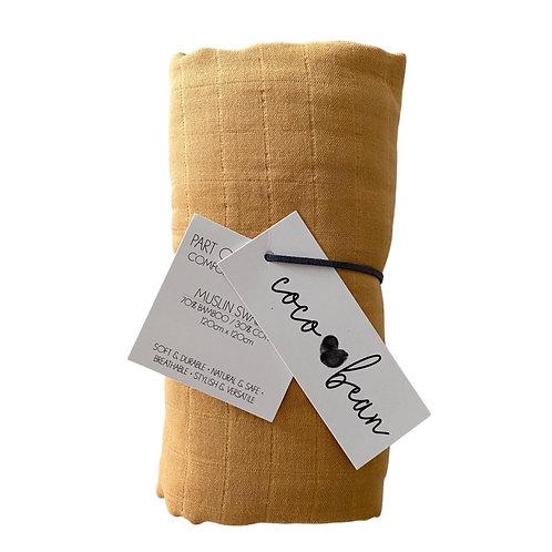 Golden Bamboo Muslin Blanket