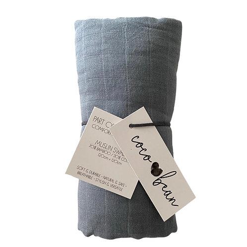 The Steel Bamboo Muslin Blanket
