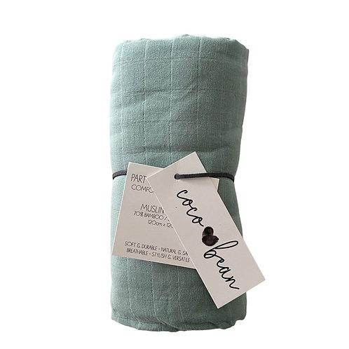 Glacier Bamboo Muslin Blanket