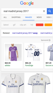Google Shopping on Image Search - Mobile