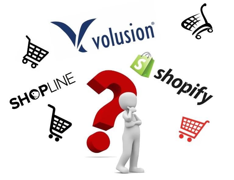 Volusion, Shopify, Shopline Compare