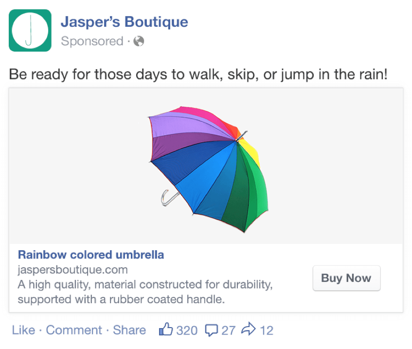 Facebook Dynamic Product Ad, Product Ad Display, Branding