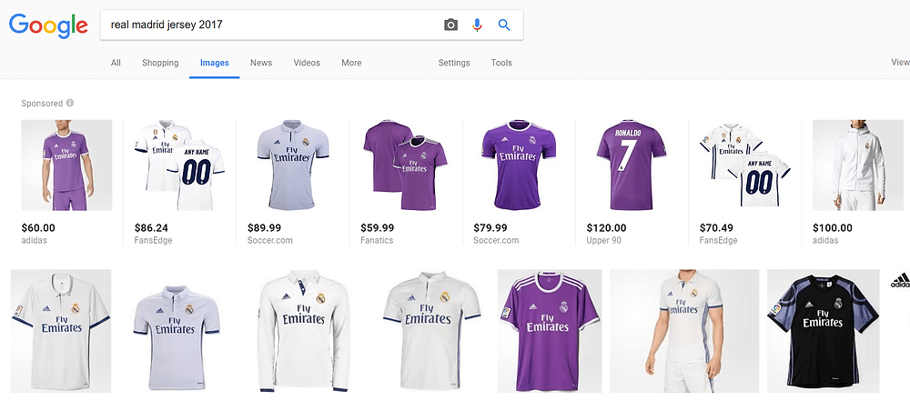 Google Shopping on Image Search - Desktop