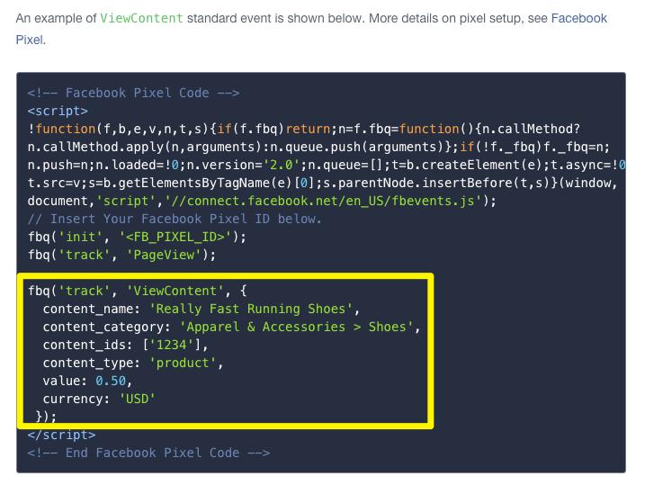Facebook Dynamic Product Ad, Pixels Coding, Pixels Installations