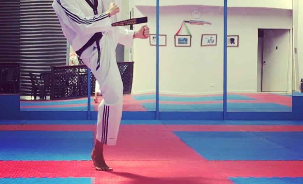 Master Al performing a Taekwondo Axe Kick