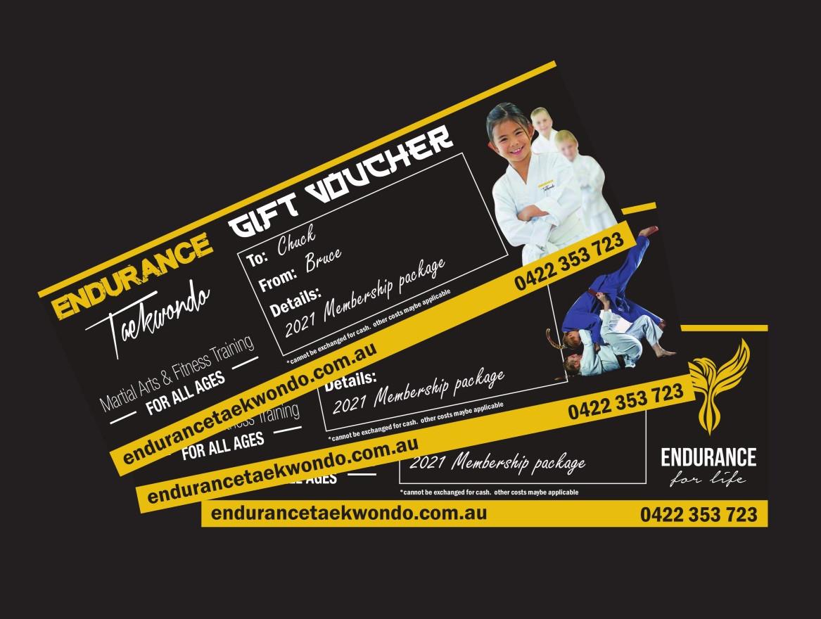 Taekwondo Gift Voucher
