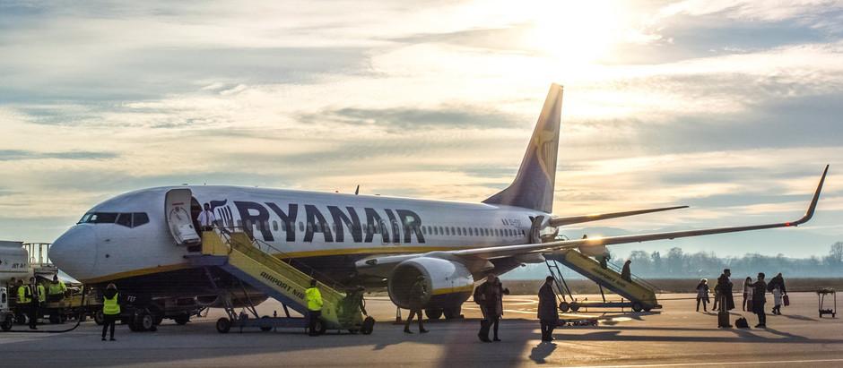Ryanair ukida letove Niš-Bratislava, ostali letovi odloženi do marta 2021. godine