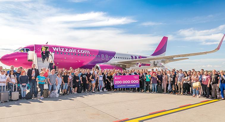 Wizzair proslavio 15 godina postojanja i  200-milionitog putnika