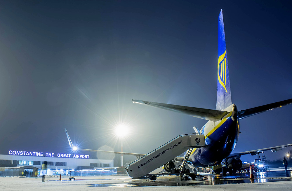 Ryanair at Constantine the Great airport Niš, Serbia