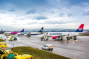 Air serbia, wizz air and ryanair at Niš Constantine the Great Airport