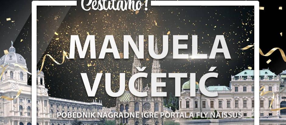 Završena velika nagradna igra - Manuela Vučetić leti za Beč