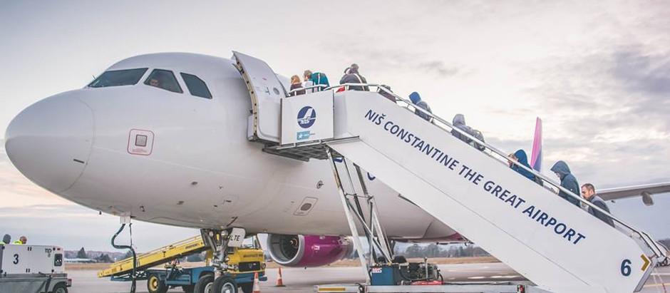 Nastavlja se pad broja putnika na niškom aerodromu i u aprilu