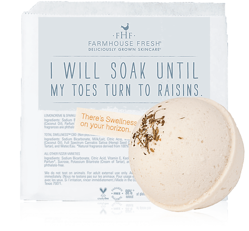 Rosemary-Mint Hemp-Infused Large Fizzing Bath Soak with Swellness® Fortune