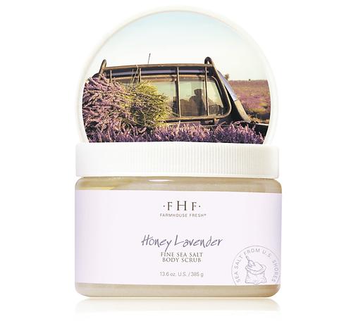 Honey Lavender Fine Sea Salt Body Scrub