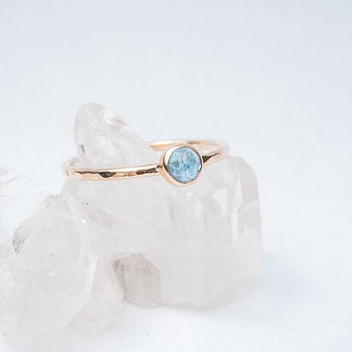 Santa Maria Aquamarine 9ct Gold Ring