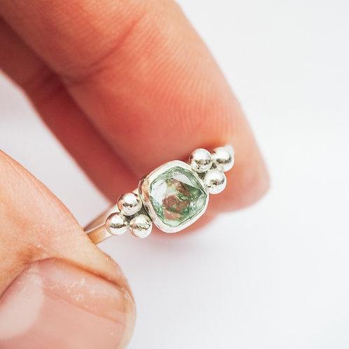 Mint Green Tourmaline Triad Ring