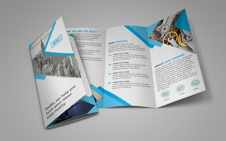Brochures, Flyers, Leaflets Design and Printing
