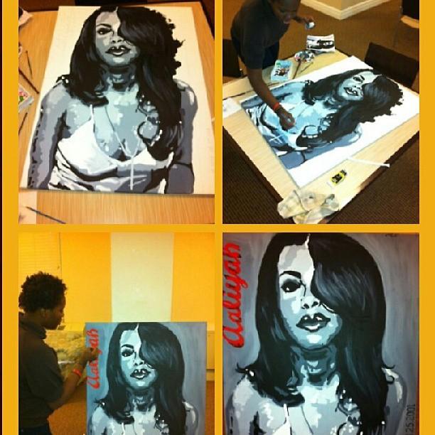 acrylic Aaliyah
