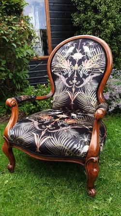 Victorian Style Bedroom Chair using Becca Who Cocodilia
