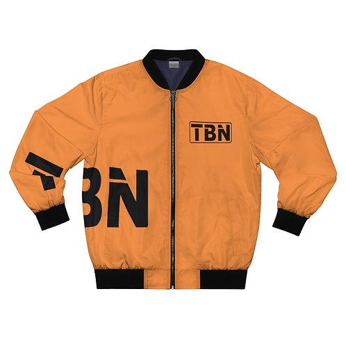 Orange and Black TBN Multi Logo Bomber Jacket