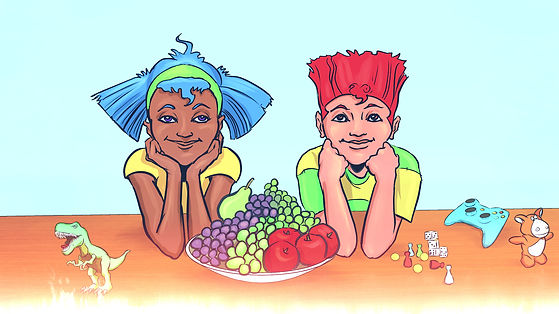 Super Healthy Comic Fun Food Facts for children.
