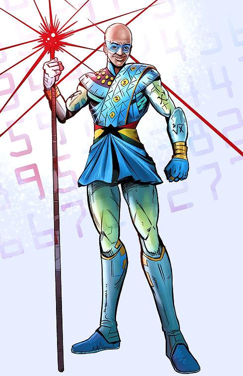 Mr Numbervator, the world's first mathematics superhero! By Sovereign Comics UK
