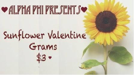 Sunflower Valentine Grams Huge Success