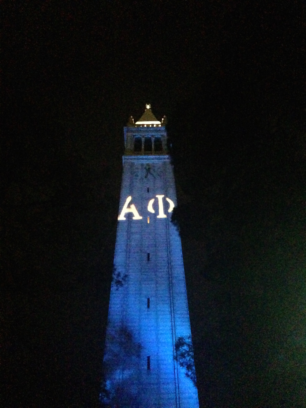 Alpha Phi featured on the Campanile!